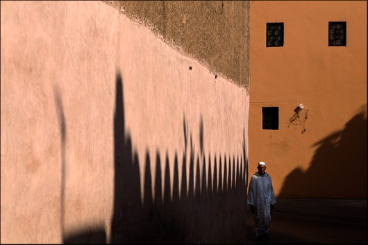Walking by in Marrakech. Morocco.