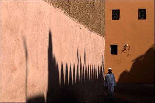 Walking by in Marrakech. Morocco.