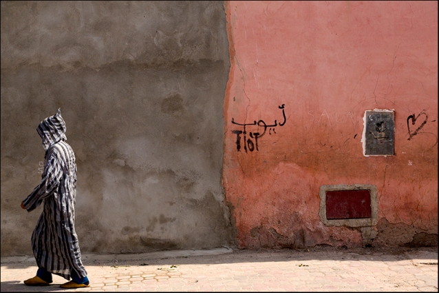 In a street of Marrakech. Morocco