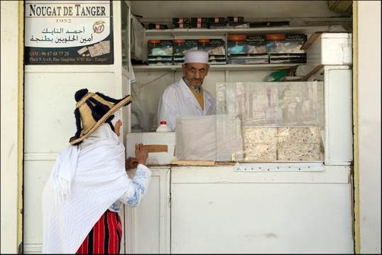 A nougat shop in Tangiers