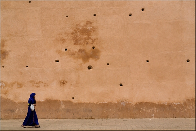On the phone in Meknes. Morocco