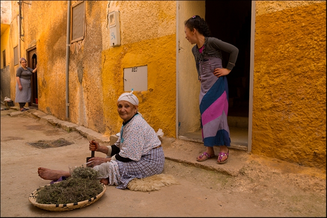 Working in a street fo El Hajeb. Morocco